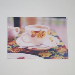 Mantel individual foto taza girasol