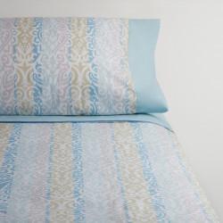 Juego de sábanas corinto azul