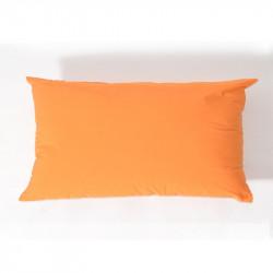 Funda de cojín popelin 28x45 naranja