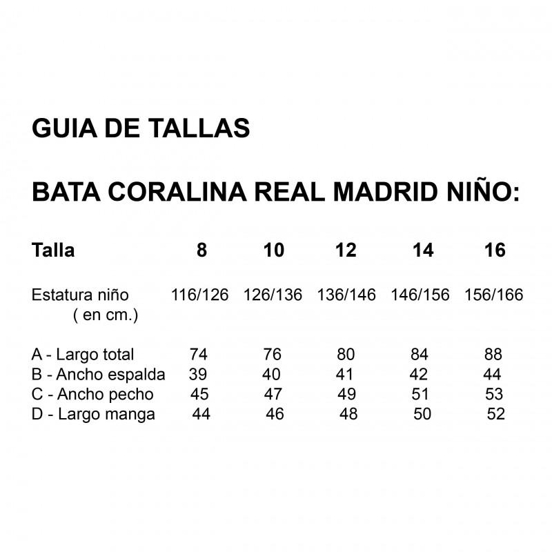 BATA REAL MADRID NIÑO CORALINA
