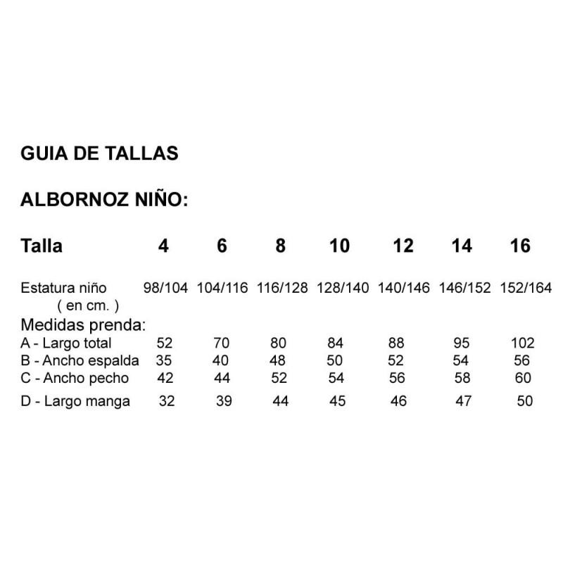 ALBORNOZ NIÑO CLASICO BLANCO
