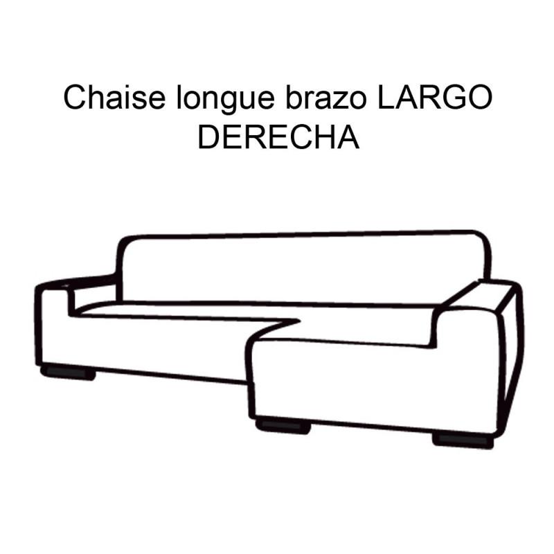 FUNDA DE SOFÁ CHAISE LONGUE B/LARGO GLAMOUR