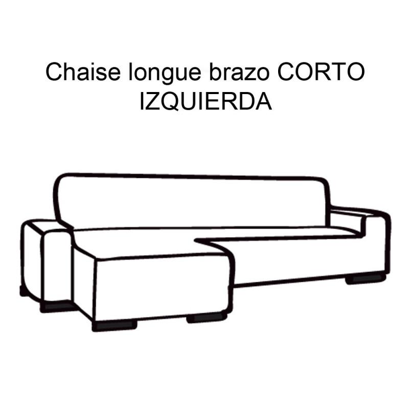 FUNDA DE SOFÁ CHAISE LONGUE B/CORTO GLAMOUR