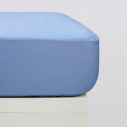 Protector colchón tencel azul