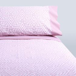 Juego de sábanas strike rosa