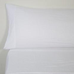 Juego de sábanas sunwashed blanco
