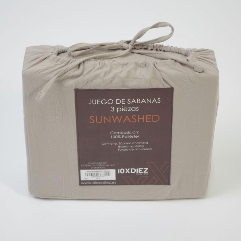 JUEGO DE SÁBANAS SUNWASHED BEIG
