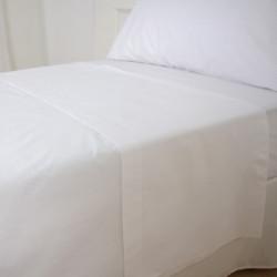 Sabana encimera hostelería blanca lote 12un. 160x270 DiezxDiez