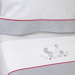 Juego de sábanas cuna 084 blanco/gris