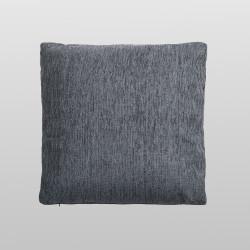 Funda de cojín chenilla gris