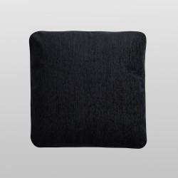 Funda de cojín chenilla negro
