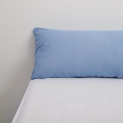Funda almohada tencel azul