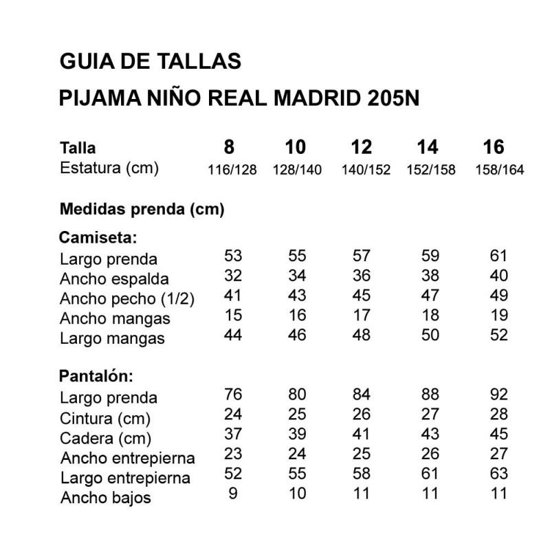PIJAMA NIÑO REAL MADRID 205N TONDOSADO