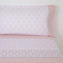 Juego de sábanas macarella rosa