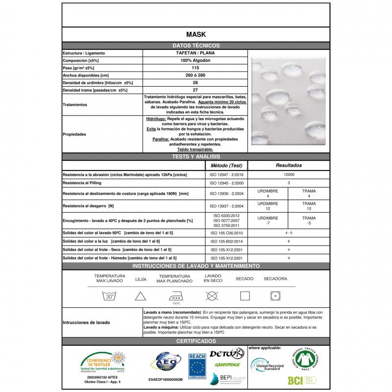Mascarilla higiénica hidroblock - pack 5 unidades