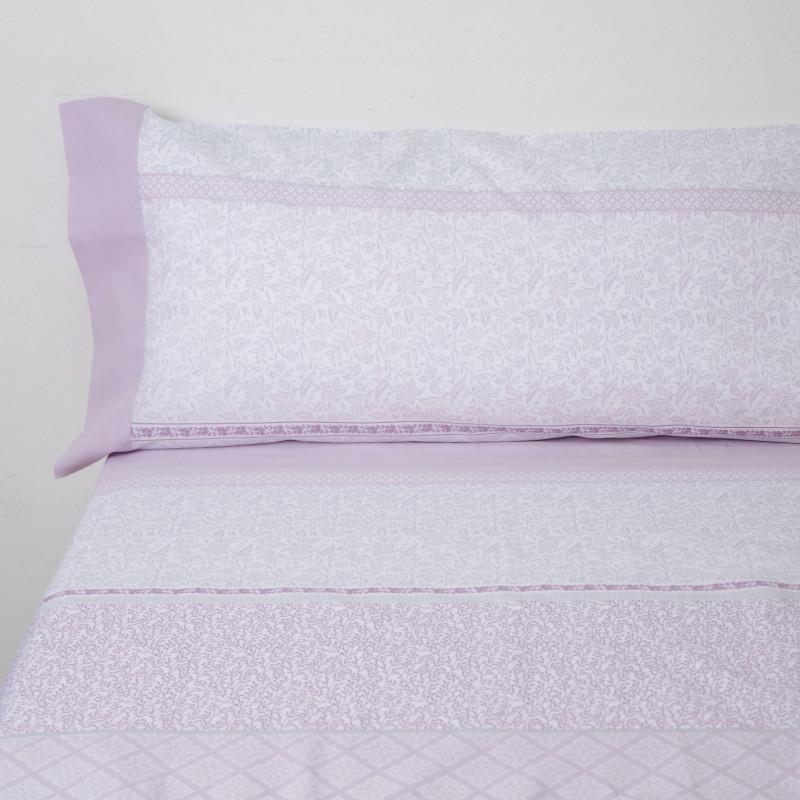 Juego de sábanas pregonda rosa