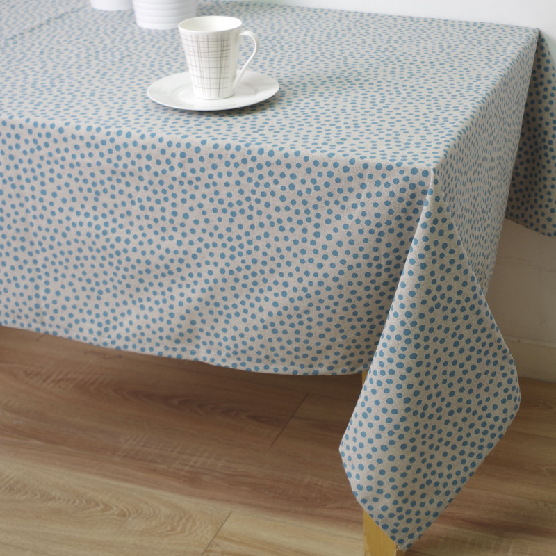 Mantel antimanchas eco dory azul