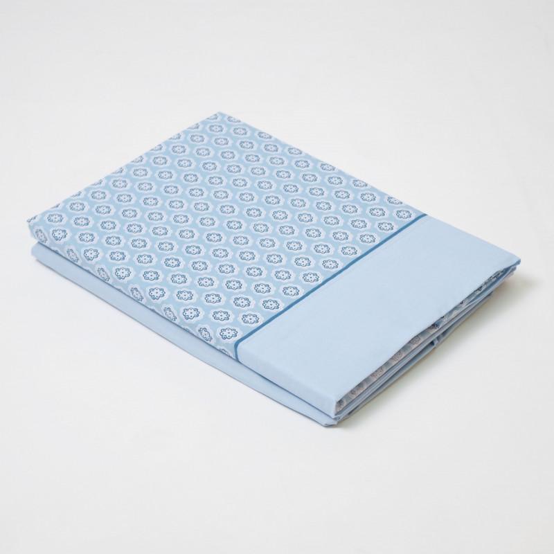 Juego de sábanas ava azul