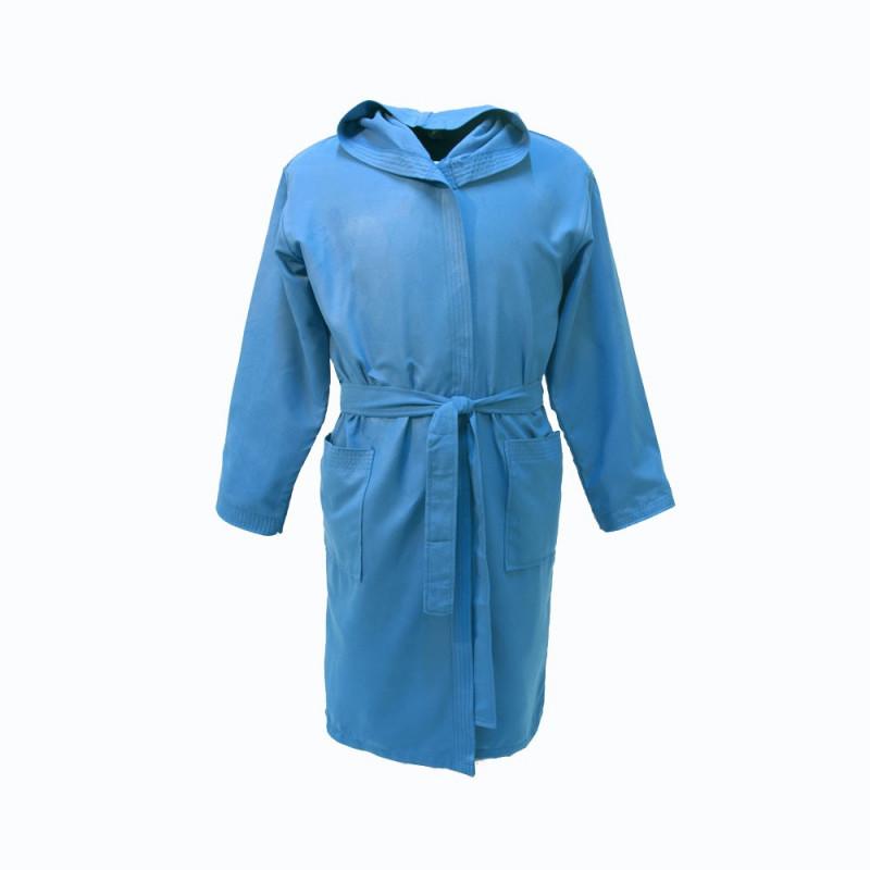 Albornoz microfibra infantil azulón