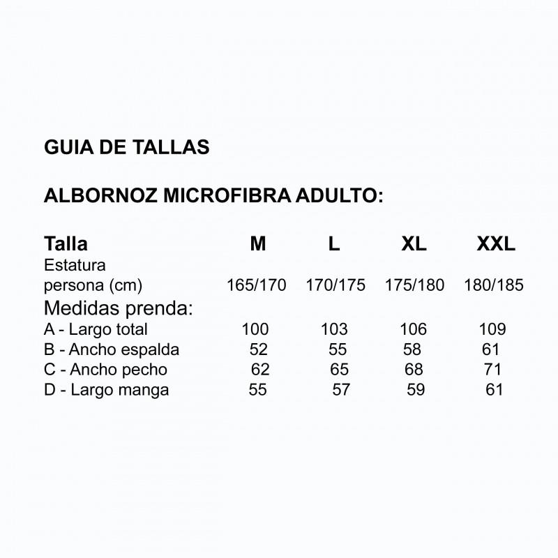 Albornoz microfibra adulto gris plomo