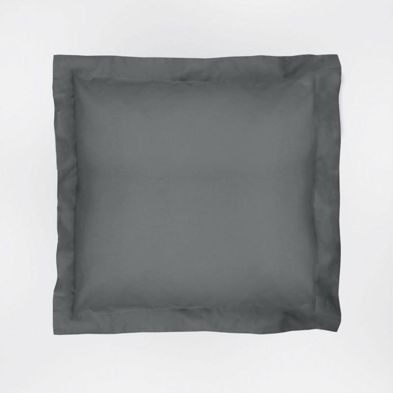 Funda de cojín 60x60 basic gris plomo 24