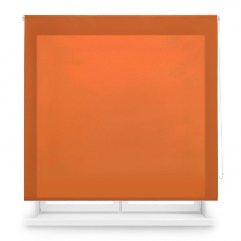 Enrollable tejido translúcido naranja