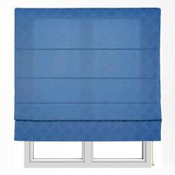 Estor con varillas xaloc jacquard azul