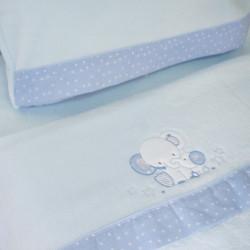 Juego de sábanas cuna coralina 084 azul
