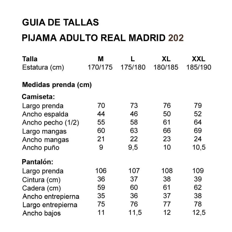 PIJAMA REAL MADRID 205 TONDOSADO