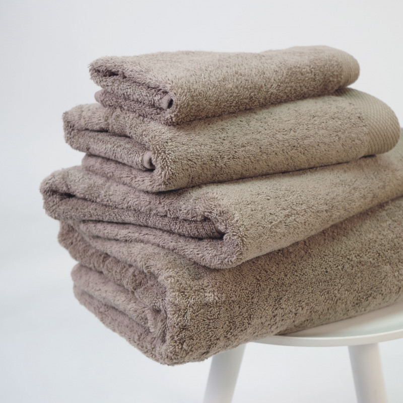 Toalla algodón orgánico 600 gr/m2 beig