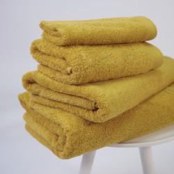 Toalla algodón orgánico 600 gr/m2 mostaza