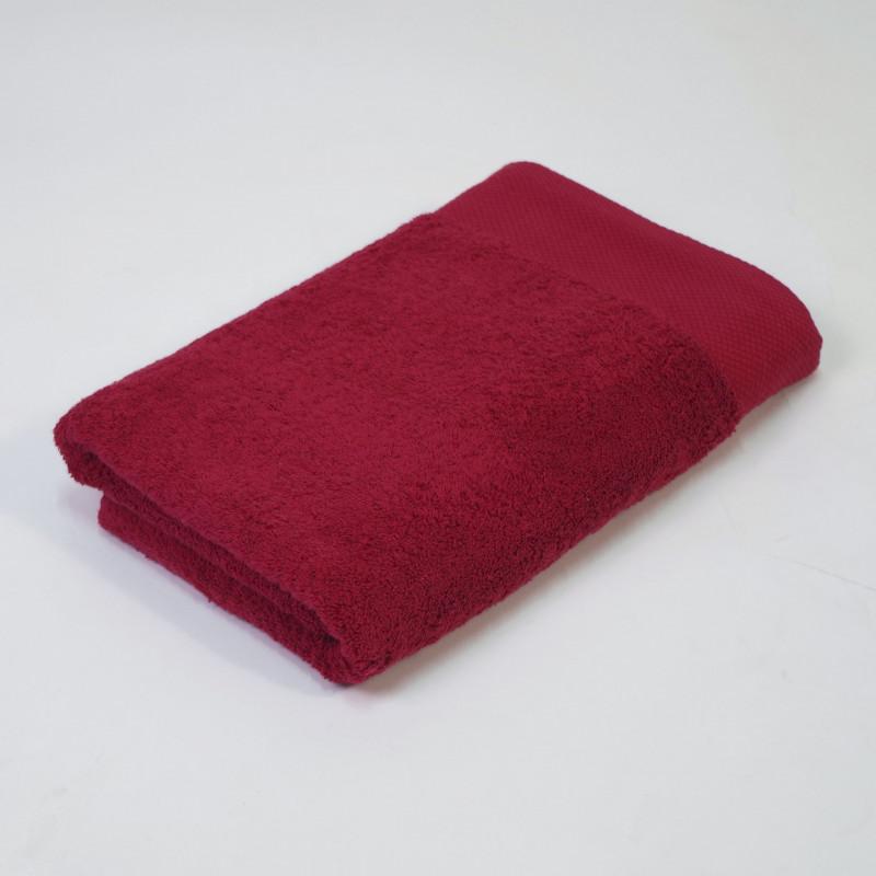 Toalla algodón orgánico 600 gr/m2 borgoña