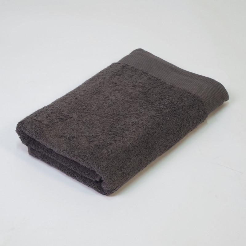Toalla algodón orgánico 600 gr/m2 plomo