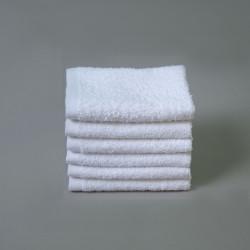 Toalla algodón 30x30cm blanco - Pack 6 unidades