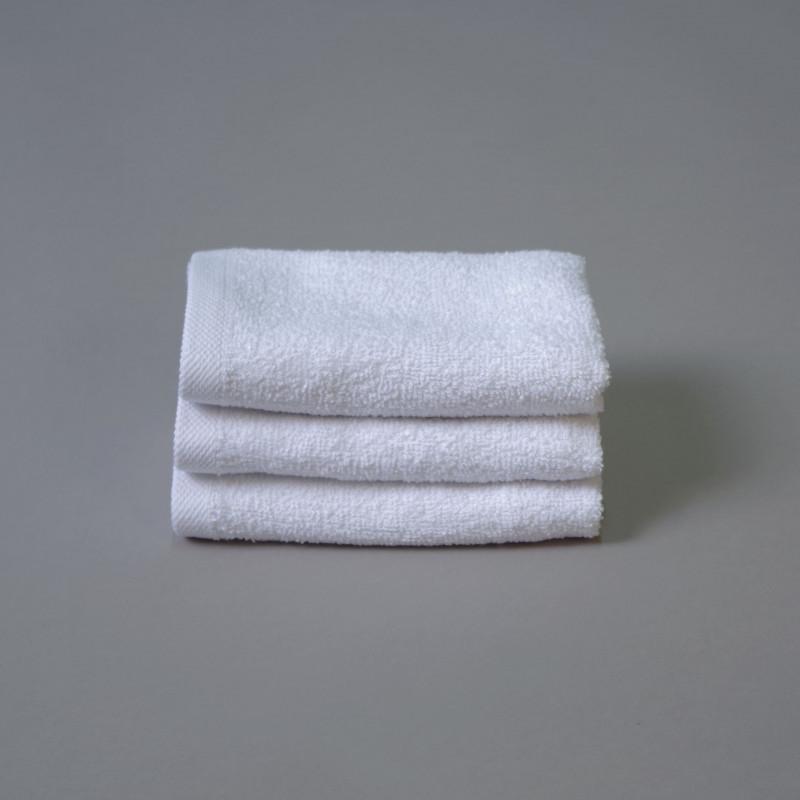 Toalla algodón cardado 30x50cm blanco - Pack 3 unidades