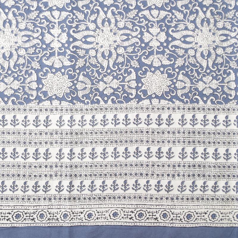 Foulard multiusos handmade flor azul 6