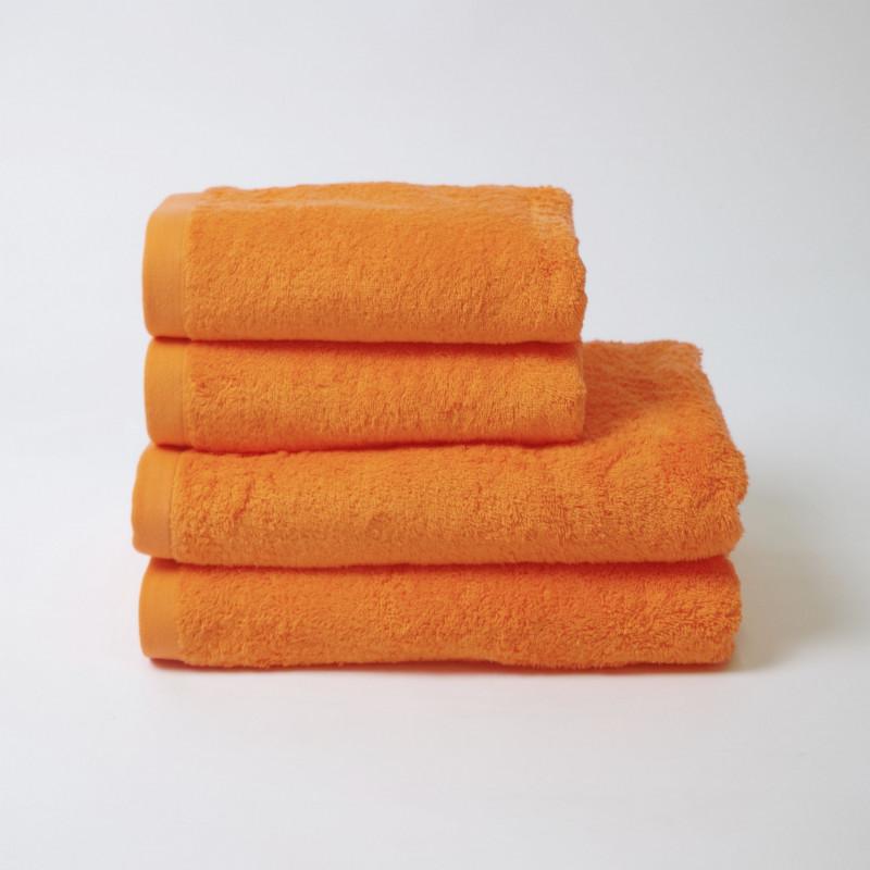 Toalla algodón 550 gr/m2 mandarina