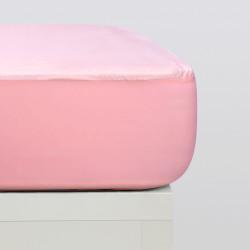 Sábanas bajeras punto algodón orgánico rosa
