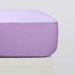 Sábanas bajeras punto algodón orgánico lila
