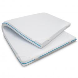Topper colchón visco gel 5 cm.