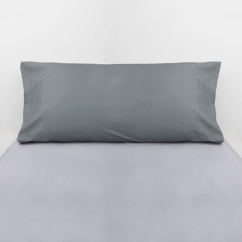 Funda almohada algodón gris