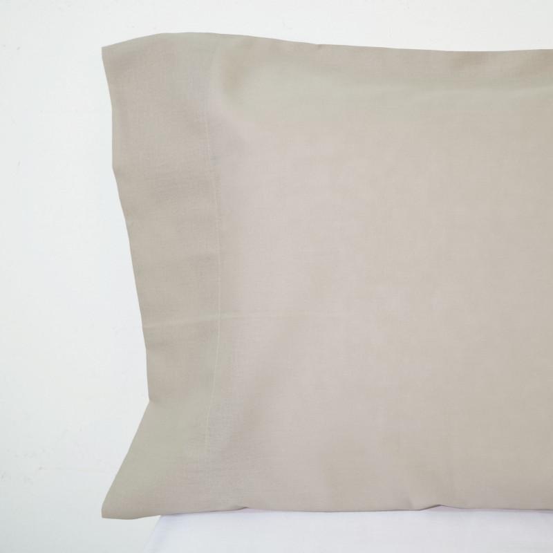 Funda almohada algodón beig