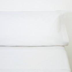Juego de sábanas algodón blanco