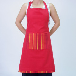 Delantal reversible apron rojo