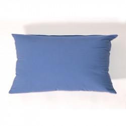 Funda de cojín popelin 28x45 azul