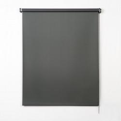 Enrollable tejido opaco gris oscuro