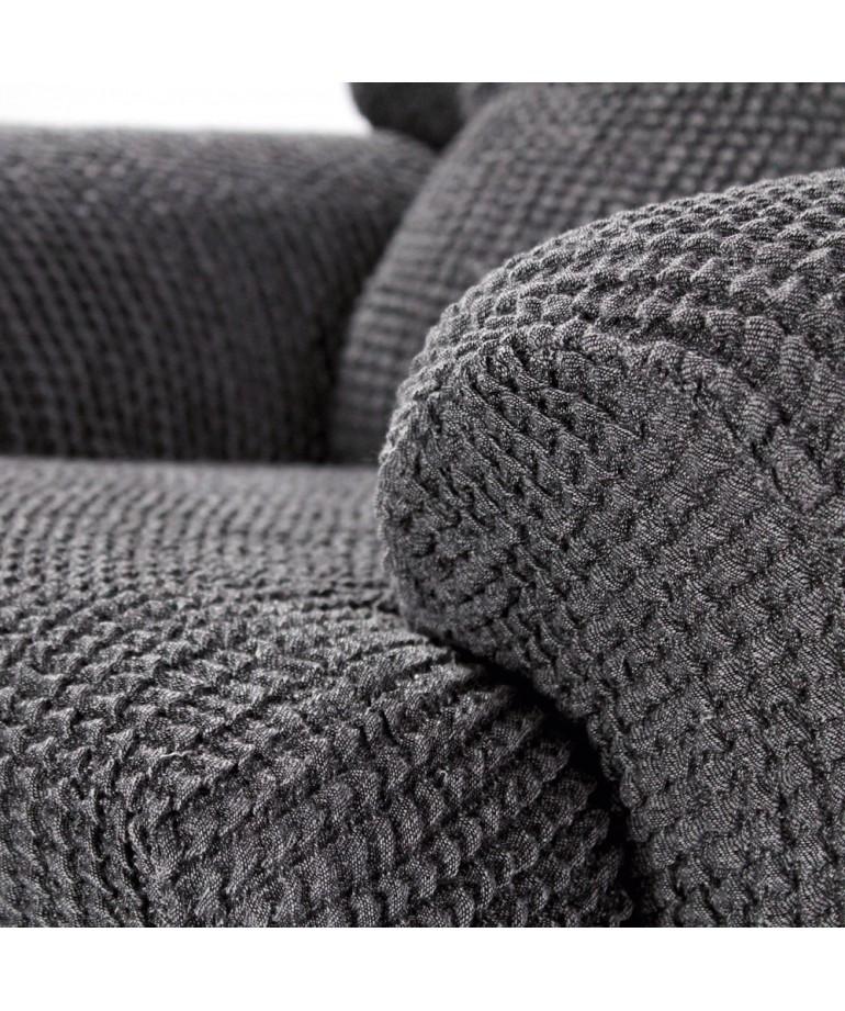 Funda sofa 3 plazas glamour diezxdiez for Fundas de sofa gris