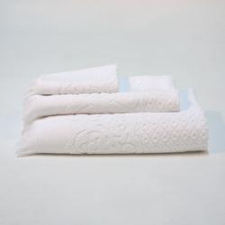 Juego de toallas jacquard blanco 991