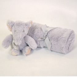 Caja manta + elephant de peluche