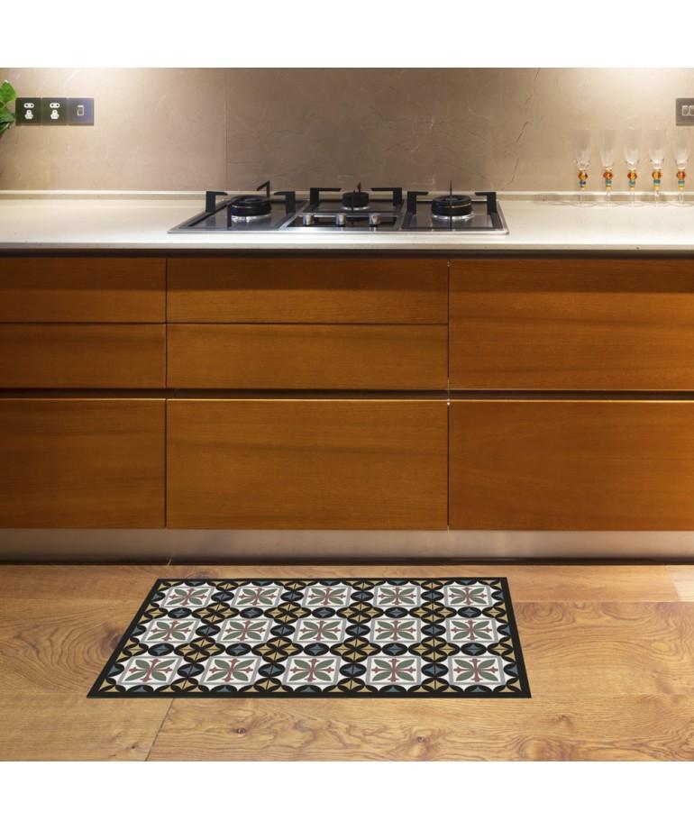 Alfombra de vinilo hidra negro 45x75 diezxdiez - Alfombras de vinilo para cocina ...